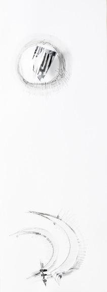 La stella polare 2015 cm 76x28 tecnica mista su carta.JPG